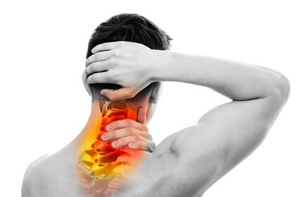 A male feeling pain in his neck could use a nerve pain medicine for his pain such as Nerve Renew.