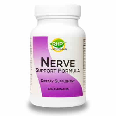 Bottle of Nerve Support Formula by Real Health Products LLC