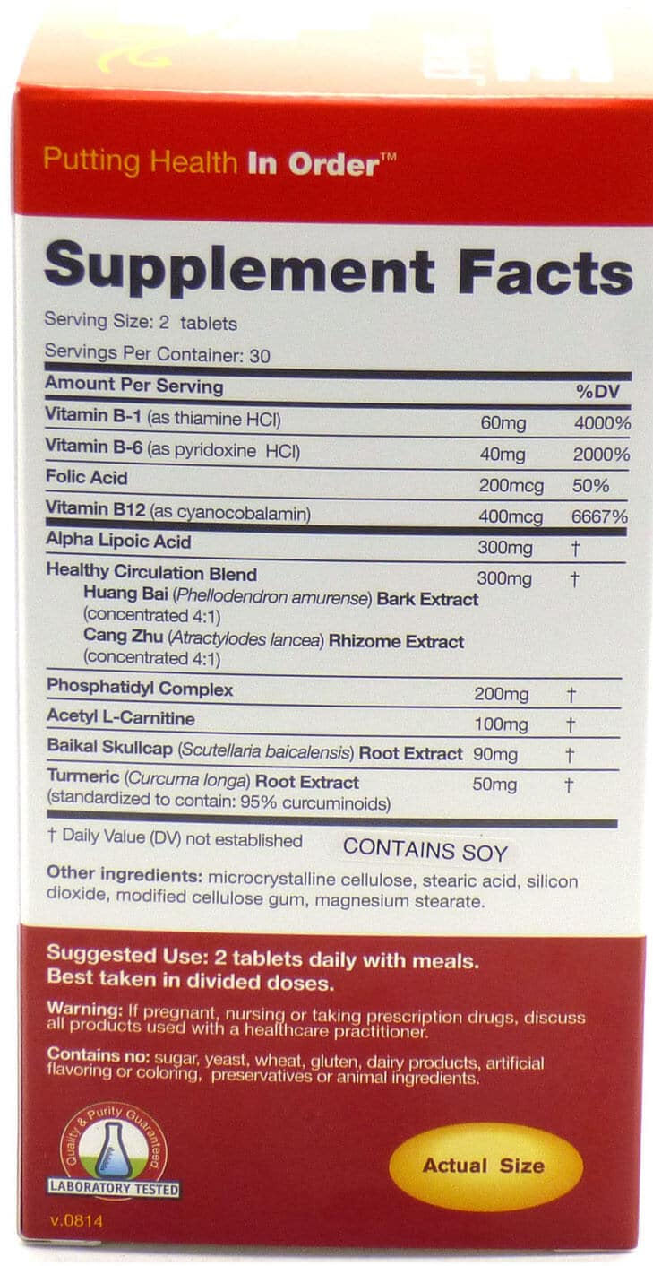 Box of Nerve Shield listing the ingredients in the supplemeent